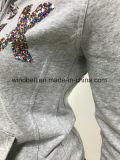 Модное Hoody для женщин с письмами Sequins