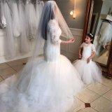 Девушка цветка Mermaid тучная Bridal одевает платья общности