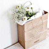 Sacs à provisions directs de papier d'emballage d'usine avec la qualité