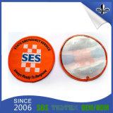 Etiqueta adhesiva respetuosa del medio ambiente Etiqueta tejida Etiqueta tejida de la etiqueta de la ropa de la insignia