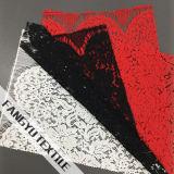 Grandi nylon di disegno del fiore/tessuto merletto del cotone