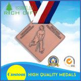 Medaglie su ordinazione superiori di eventi di sport con il nastro della medaglia