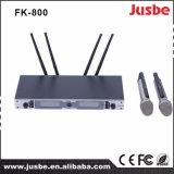 高い発電の専門のデジタルUHFのマイクロフォン無線Fk800
