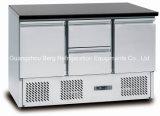 Refrigerador superior de mármore da tabela da preparação da pizza do aço inoxidável