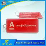 Entrambi a resina epossidica personalizzati stampa del lato qualsiasi anello chiave del metallo di marchio con il prezzo più basso (XF-KC18)