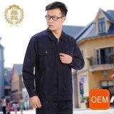 Vêtements de travail de chemise de coton pur de Spring&Autumn de personnalisation longs