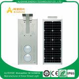 luz de rua solar Integrated do diodo emissor de luz 25W com o sensor de radar da micrôonda