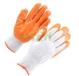 Handschoen van de Palm van de Greep van de katoenen de Latex Met een laag bedekte Handschoen van de Veiligheid Rubber