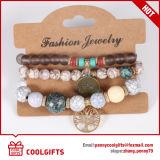 Pendent金属が付いている普及した要素の真珠の石のブレスレット