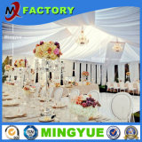 Decoración que alinea las tiendas de interior de la boda del partido