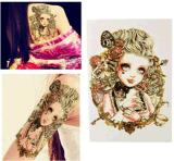 Etiqueta engomada temporal impermeable del arte de carrocería de la etiqueta engomada del tatuaje de la muchacha gótica