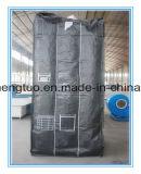 Grand sac de FIBC de conteneur enorme noir de tonne avec la cloison à l'intérieur