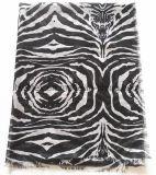 Impressão Clássica Zebra Fino Poliéster Beach Pareo / Lady Scarf (HWBPS005)