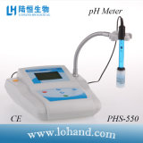 Medidor de pH de la tapa del banco de la alta calidad/probador (PHS-550)