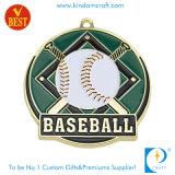 Kundenspezifische Decklack-Baseball-Silber-Kupfer-Medaille