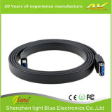 Black Flat USB 3.0 Extension Cable