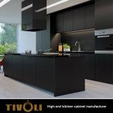 Mobilia nera della cucina della pittura glassata disegno dell'Italia Matt (AP020)