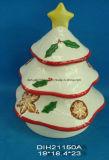 Un insieme di ceramica dipinto a mano di 3 vasi di biscotto