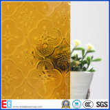 Amber Flora Pattern Vidro / Rolled Glass / Art Glass / Decorative Glass