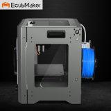 이중 밀어남 3D 인쇄 기계를 수용하는 Ecubmaker 까만 금속