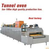 Four tunnel de gaz d'acier inoxydable pour la chaîne de production de gâteau et de pain