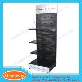 MetallPegboard Befestigungsteil-Hilfsmittel-Bildschirmanzeige-Regal-Zahnstange mit Haken
