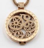 Locket de mémoire d'or de Rose pour le bijou de collier de mode