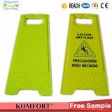 Attention pliable Signal de plancher humide Sécurité en plastique Un signe de signalisation de circulation en forme