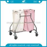 2개의 부대 움직일 수 있는 쓰레기 트롤리를 가진 AG Ss019