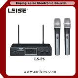 Microfono a doppio canale della radio di frequenza ultraelevata di alta qualità Ls-P6