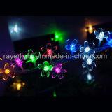 Luzes feericamente decorativas da corda do feriado para ornamento do Natal do casamento