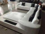 Jogo luxuoso do sofá do couro da forma de China U