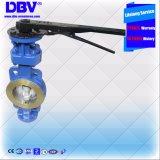 Valvola a farfalla industriale della chiave di Dbv Dn80 Wcb