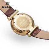 Belbi 숙녀 가죽 시계 여가 시리즈 간단한 방수 석영 시계