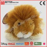 Brinquedo enchido do leão do luxuoso animal macio