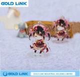 Cadeau mignon acrylique de promotion du Roi Holder Cartoon Stand Keychain de boucle principale