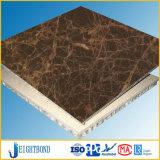 Панель Emperador темная/светлая каменная составная алюминиевая сота