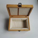 Caisse en bois portative de bijou de mode élégante de modèle