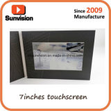 4.3inch, 5inch, 7inch, folleto del vídeo de la pantalla táctil de 10inch Customzied