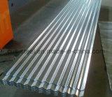 Hoja acanalada de acero galvanizada del material para techos
