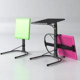 Tableau se pliant portatif de stand d'ordinateur portatif avec le dessus de table en plastique pour l'usage d'ordinateur