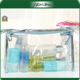 Sac à cosmétiques à la main et à fermeture à glissière en PVC transparent à bas prix