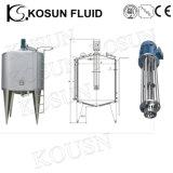 mezclador de mezcla de enfriamiento vestido vertical del tanque de la leche del acero inoxidable 1000L