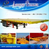 판매를 위한 3개의 차축 해골/Flated 침대 콘테이너 세미트레일러/콘테이너 포좌