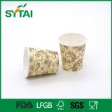 Здоровый материальный бумажный стаканчик кофеего нестандартной конструкции логоса одностеночный