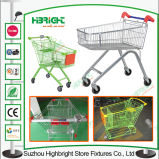 PU Wheels Magasin de commodités Metal Shopping Trolley Cart