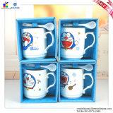 Cover와 Spoon를 가진 창조적인 Ceramic Doraemon Mark Cup
