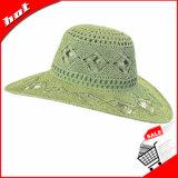 Sombrero de paja flojo del papel del sombrero de la mujer de Sun