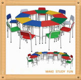 高品質Colorful Plastic Kindergarten DeskおよびChair
