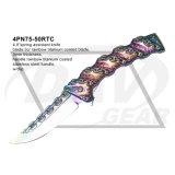 Couteau de poche à ressort de 4,8 po avec titane revêtu (4PN75-50GTC)